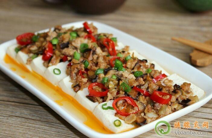 胰腺炎可以吃肉沫蒸豆腐吗