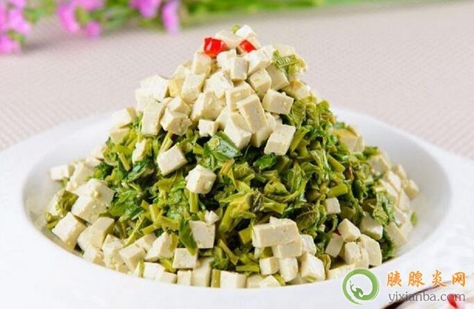 胰腺炎可以吃香椿拌豆腐吗