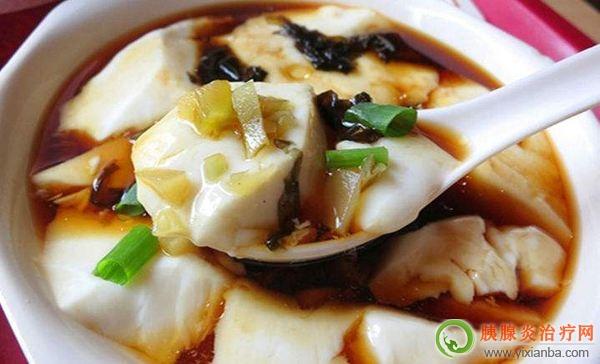 胰腺炎可以吃豆腐脑吗