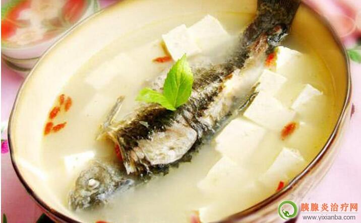 胰腺炎出院后可以吃鲫鱼豆腐汤吗