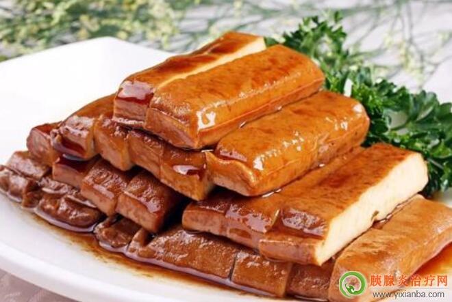 胰腺炎可以吃五香豆腐干吗